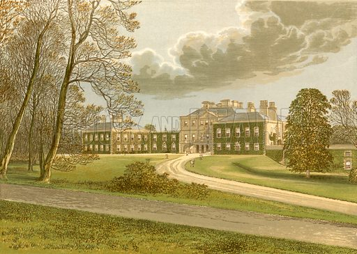 Haddo House. Illustration for Pictureque Views of Seats by F O Morris (William Mackenzie, c 1880).