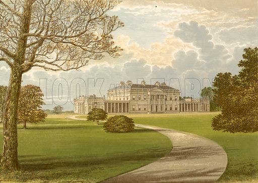 Castle Coole. Illustration for Pictureque Views of Seats by FO Morris (William Mackenzie, c 1880).
