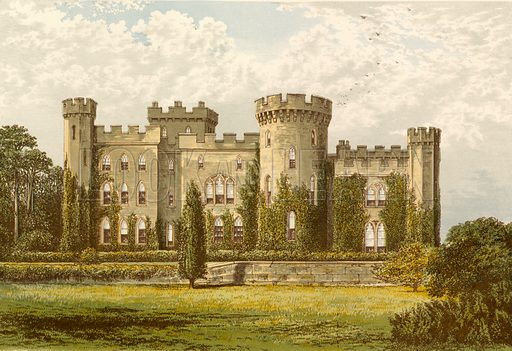 Cholmondeley Castle. Illustration for Pictureque Views of Seats by FO Morris (William Mackenzie, c 1880).