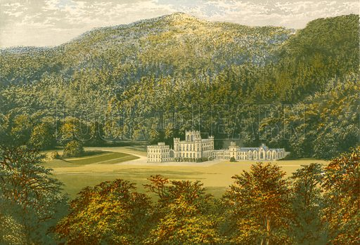Taymouth Castle. Illustration for Pictureque Views of Seats by F O Morris (William Mackenzie, c 1880).
