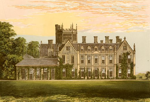 Melbury House. Illustration for Pictureque Views of Seats by FO Morris (William Mackenzie, c 1880).