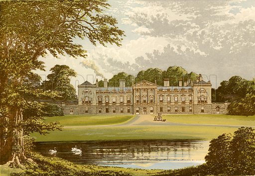Woburn Abbey. Illustration for Pictureque Views of Seats by FO Morris (William Mackenzie, c 1880).