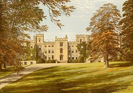 Mulgrave Castle. Illustration for Pictureque Views of Seats by FO Morris (William Mackenzie, c 1880).