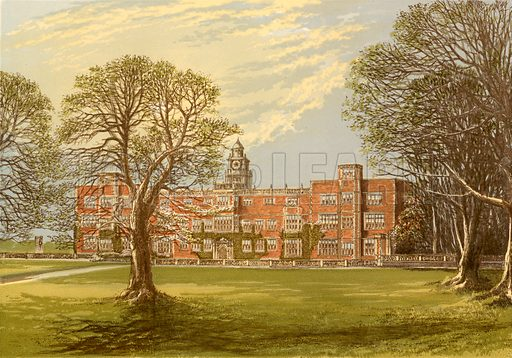 Hatfield House. Illustration for Pictureque Views of Seats by FO Morris (William Mackenzie, c 1880).