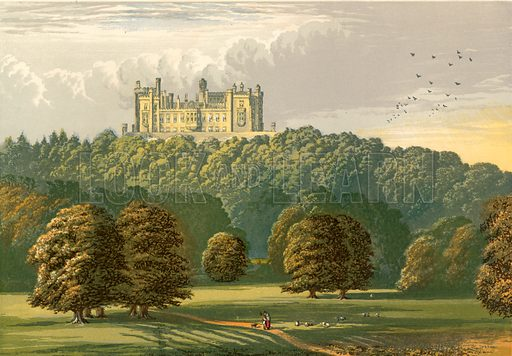Belvoir Castle. Illustration for Pictureque Views of Seats by F O Morris (William Mackenzie, c 1880).