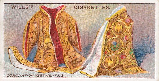 Coronation Vestments, 2. Illustration for the Wills's Cigarettes series of Coronation Cards, 1911.