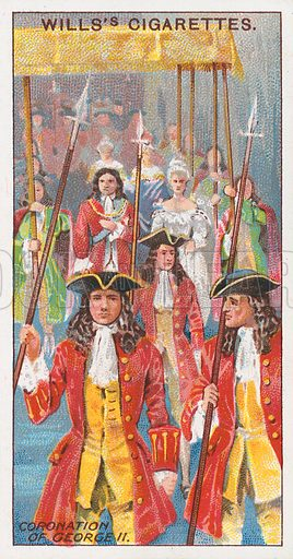 Coronation of George II. Illustration for the Wills's Cigarettes series of Coronation Cards, 1911.