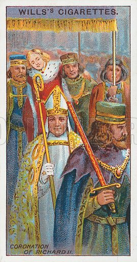 Coronation of Richard II. Illustration for the Wills's Cigarettes series of Coronation Cards, 1911.