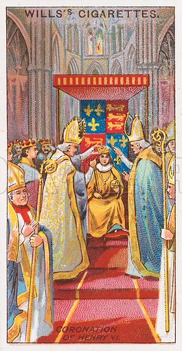 Coronation of Henry VI. Illustration for the Wills's Cigarettes series of Coronation Cards, 1911.