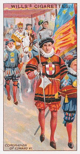 Coronation of Edward VI. Illustration for the Wills's Cigarettes series of Coronation Cards, 1911.