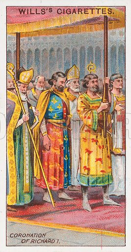 Coronation of Richard I. Illustration for the Wills's Cigarettes series of Coronation Cards, 1911.