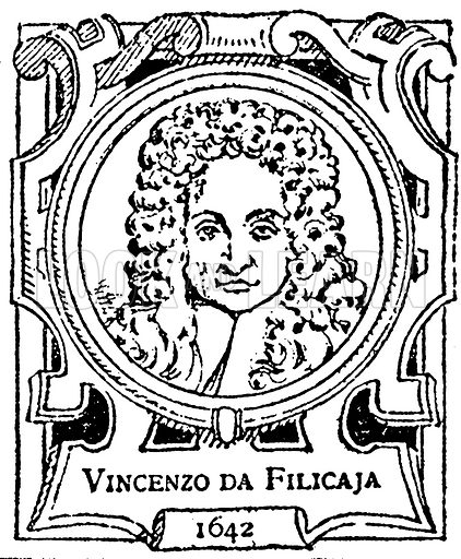 Vincenzo da Filicaja. Illustration for The Portrait Birthday-Book (Seely, c 1870).