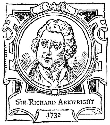 Sir Richard Arkwright. Illustration for The Portrait Birthday-Book (Seely, c 1870).