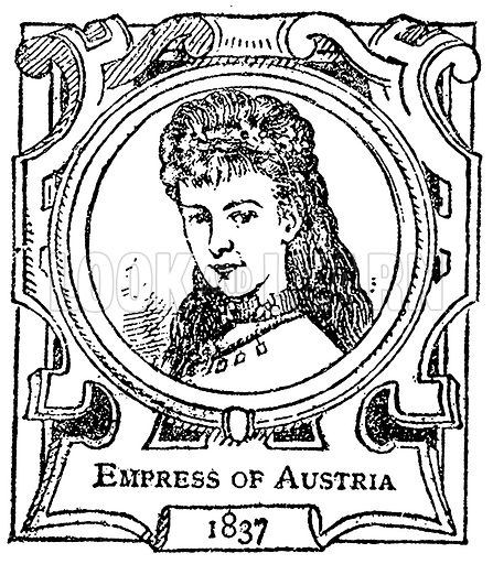 Empress of Austria. Illustration for The Portrait Birthday-Book (Seely, c 1870).