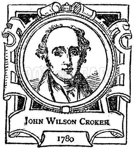 John Wilson Croker. Illustration for The Portrait Birthday-Book (Seely, c 1870).