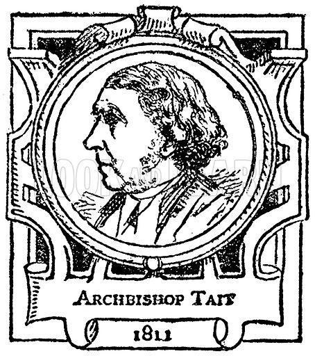 Archbishop Tait. Illustration for The Portrait Birthday-Book (Seely, c 1870).