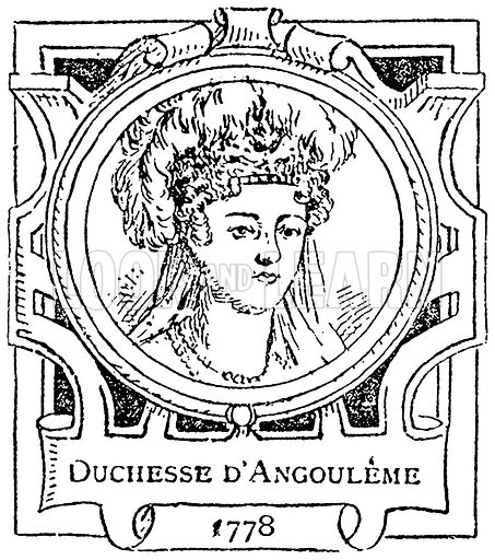 Duchesse d'Angouleme. Illustration for The Portrait Birthday-Book (Seely, c 1870).