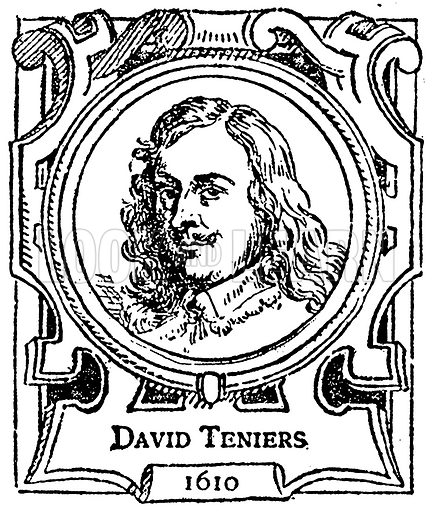 David Teniers. Illustration for The Portrait Birthday-Book (Seely, c 1870).