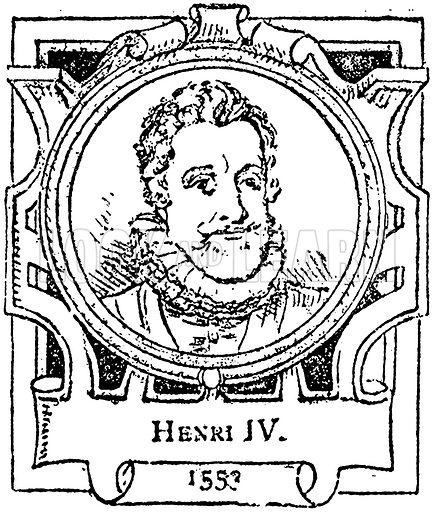 Henri IV. Illustration for The Portrait Birthday-Book (Seely, c 1870).