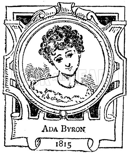 Ada Byron. Illustration for The Portrait Birthday-Book (Seely, c 1870).