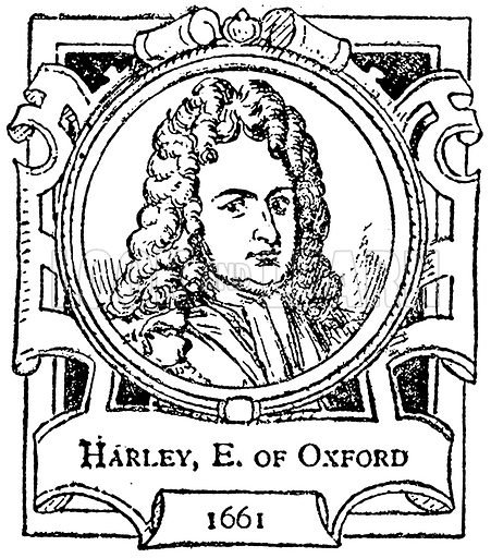 Harley, E. of Oxford. Illustration for The Portrait Birthday-Book (Seely, c 1870).