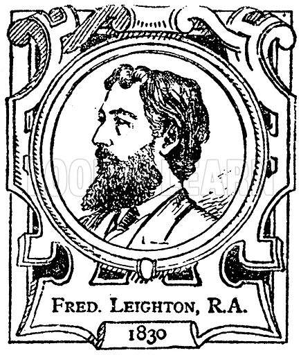 Fred. Leighton, RA Illustration for The Portrait Birthday-Book (Seely, c 1870).