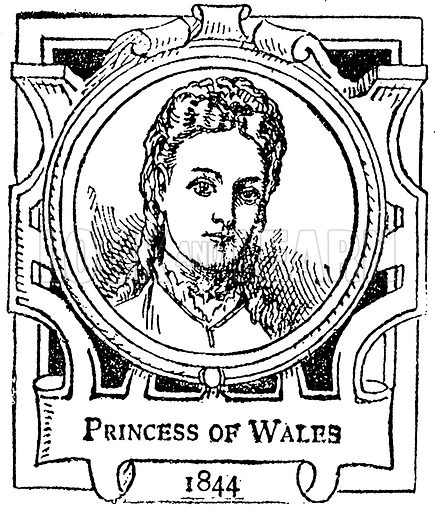 Princess of Wales. Illustration for The Portrait Birthday-Book (Seely, c 1870).