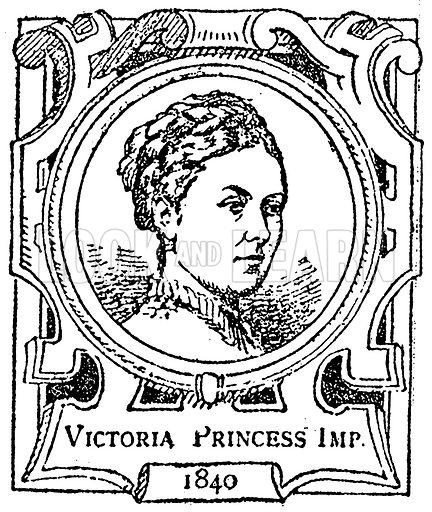 Victoria Princess Imp. Illustration for The Portrait Birthday-Book (Seely, c 1870).