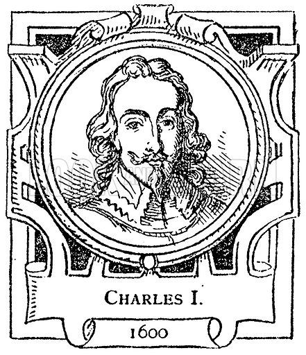 Charles I. Illustration for The Portrait Birthday-Book (Seely, c 1870).