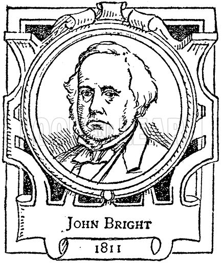 John Bright. Illustration for The Portrait Birthday-Book (Seely, c 1870).