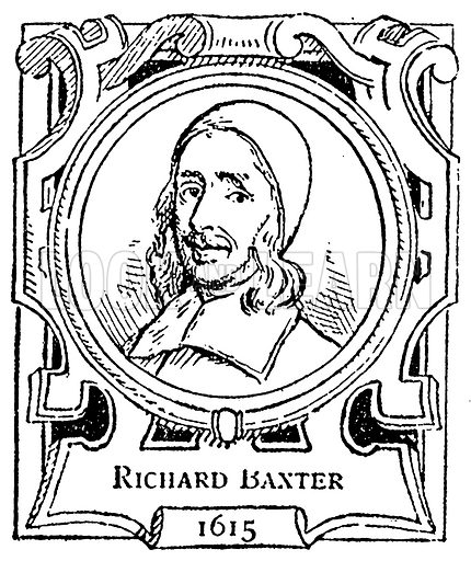 Richard Baxter. Illustration for The Portrait Birthday-Book (Seely, c 1870).