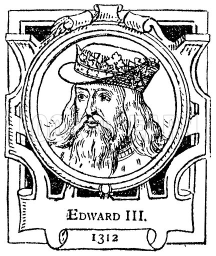 Edward III. Illustration for The Portrait Birthday-Book (Seely, c 1870).