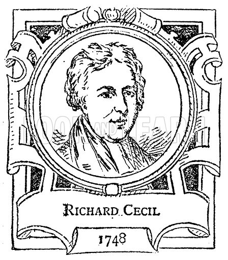 Richard Cecil. Illustration for The Portrait Birthday-Book (Seely, c 1870).