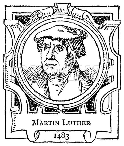 Martin Luther. Illustration for The Portrait Birthday-Book (Seely, c 1870).