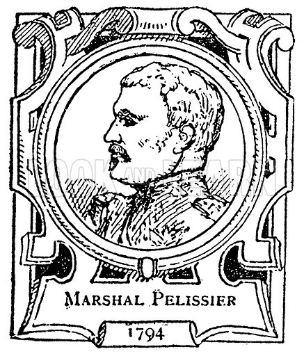 Marshal Pelissier. Illustration for The Portrait Birthday-Book (Seely, c 1870).
