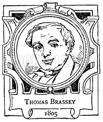 Thomas Brassey. Illustration for The Portrait Birthday-Book (Seely, c 1870).