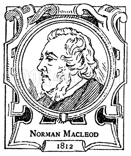 Norman Macleod. Illustration for The Portrait Birthday-Book (Seely, c 1870).