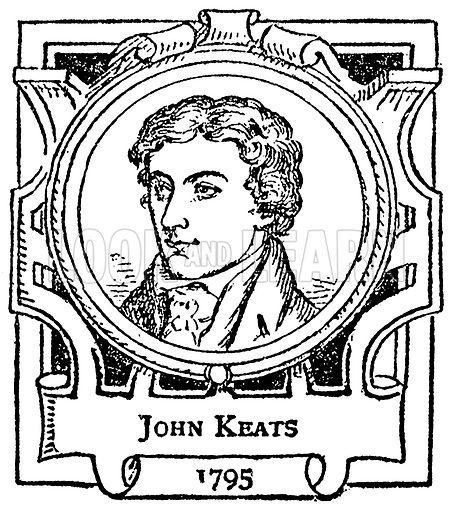 John Keats. Illustration for The Portrait Birthday-Book (Seely, c 1870).