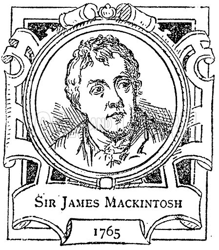 Sir James Mackintosh. Illustration for The Portrait Birthday-Book (Seely, c 1870).