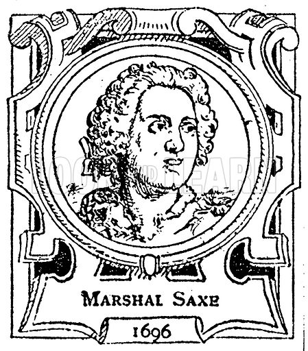 Marshal Saxe. Illustration for The Portrait Birthday-Book (Seely, c 1870).