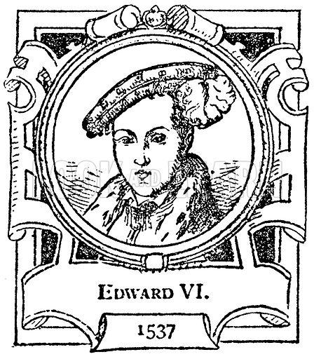 Edward VI. Illustration for The Portrait Birthday-Book (Seely, c 1870).