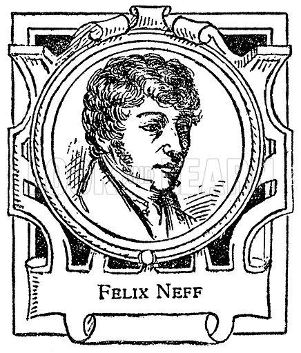 Felix Neff. Illustration for The Portrait Birthday-Book (Seely, c 1870).