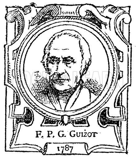 FPG Guizot. Illustration for The Portrait Birthday-Book (Seely, c 1870).