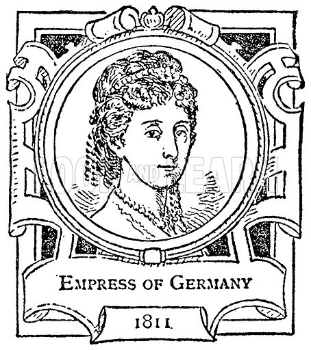 Empress of Germany. Illustration for The Portrait Birthday-Book (Seely, c 1870).