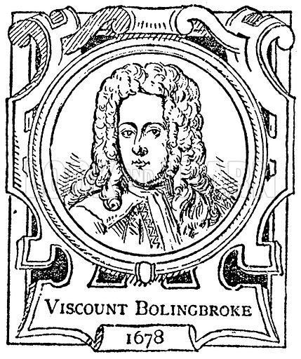Viscount Bolingbroke. Illustration for The Portrait Birthday-Book (Seely, c 1870).