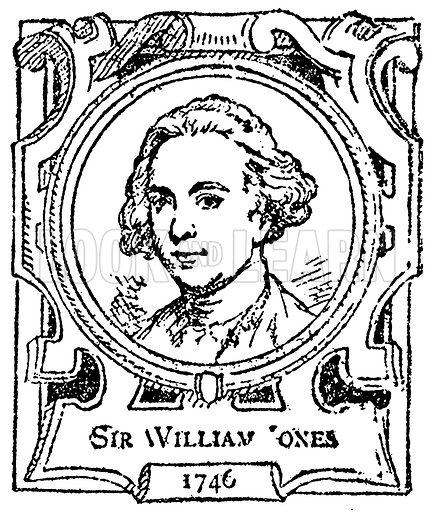 Sir William Jones. Illustration for The Portrait Birthday-Book (Seely, c 1870).