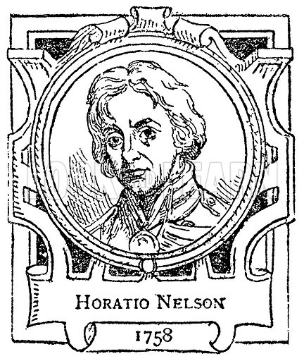 Horatio Nelson. Illustration for The Portrait Birthday-Book (Seely, c 1870).
