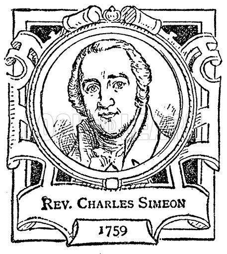 Rev. Charles Simeon. Illustration for The Portrait Birthday-Book (Seely, c 1870).