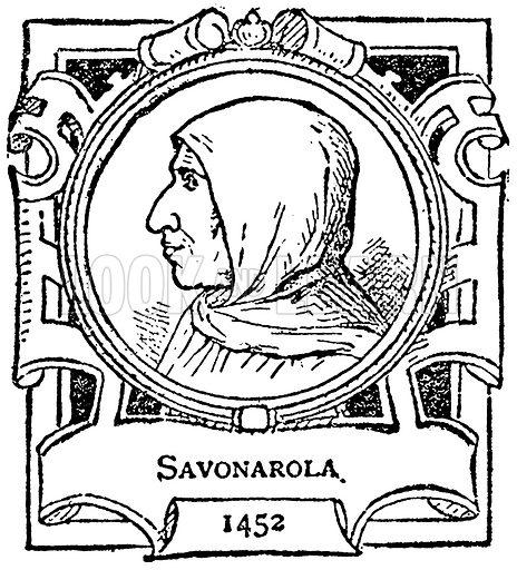Savonarola. Illustration for The Portrait Birthday-Book (Seely, c 1870).