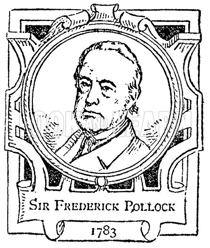 Sir Frederick Pollock. Illustration for The Portrait Birthday-Book (Seely, c 1870).